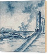 Old Castle Ruins Wood Print