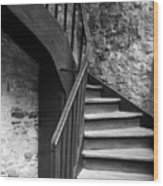 Old Castle Stairway Wood Print