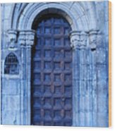 Old Cathedral Door In Barcelona Wood Print