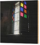 Old Catholic Church Window Wood Print