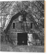 Old Cedar Barn Wood Print