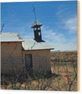 Old Chapel On Route 66 In Newkirk Nm Wood Print