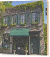 Old Charleston Gardens On 61 Queen Street Wood Print