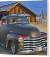 Old Chevrolet And Old Calgary Barn Photograph by Randy Harris