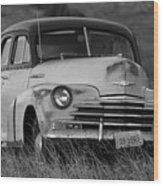Old Chevy By The Levee Wood Print
