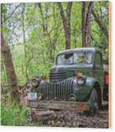 Old Chevy Oil Truck 1  Wood Print