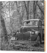 Old Chevy Oil Truck 2 Wood Print