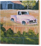 Old Chevy Truck Wood Print