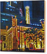 Old Chicago Pumping Station Wood Print by Michael Durst