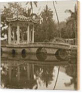 Old Chinese Garden Wood Print