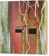 Old Chinese Village Door Eleven Wood Print