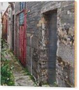 Old Chinese Village Narrow Walkway Wood Print