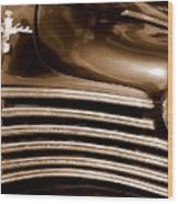 Old Chrysler Grille Wood Print