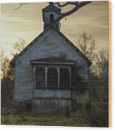 Old Church At Sunset Wood Print