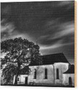 Old Church B/w  Wood Print
