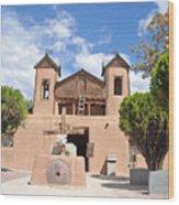 Old Church In Chimayo  Wood Print