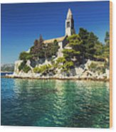 Old Church On Croatian Island Wood Print