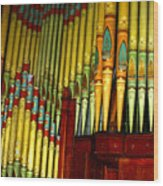 Old Church Organ Wood Print
