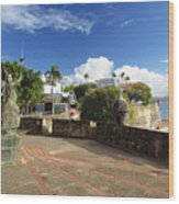 Old City In The Caribbean Wood Print