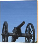 Old Civil War Cannon Wood Print