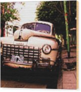 Old Classic Dodge, On The Streets Of Buenos Aires Wood Print