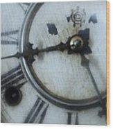 Old Clock Face Wood Print