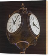 Old Clock Wood Print