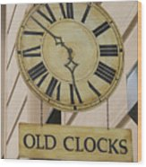 Old Clocks Wood Print