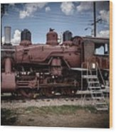 Old Clovis Train Wood Print