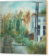 Old Cn Station Fort Langley Bc Wood Print