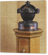 Old Coffee Grinder Wood Print by Falko Follert