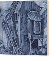 Old Colorado Mine Wood Print