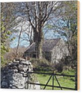 Old Cottage  Wood Print