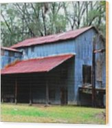 Old Cotton Gin 02 Wood Print