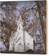 Old Country Church In Alabama Wood Print
