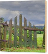 Old Country Gate Wood Print