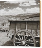 Old Country Wagon Wood Print