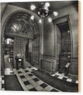 Old Courthouse Entryway Wood Print