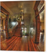 Old Courthouse Hallway Wood Print
