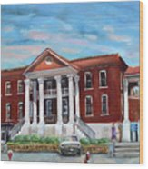 Old Courthouse In Ellijay Ga - Gilmer County Courthouse Wood Print