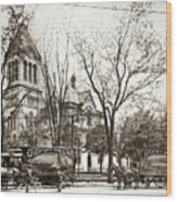 Old Courthouse Public Square Wilkes Barre Pa Late 1800s Wood Print
