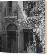 Old Courtyard Wood Print