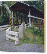 Old Covered Bridge In Pennsylvania  Wood Print