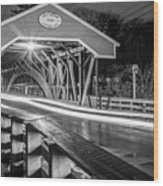Old Covered Bridge  Wood Print
