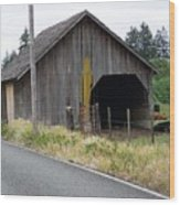 Old Cow Barn  Washington State Wood Print