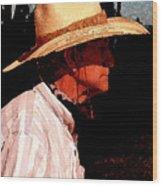 Old Cowpoke Wood Print