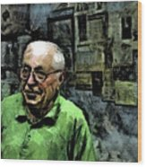 Old Craftsman Portrait Wood Print