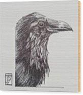 Old Crow Wood Print