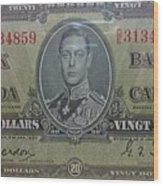 Old Currency  Wood Print