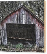 Old Dave's Front Barn Wood Print
